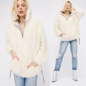 FREE PEOPLE Mountain Peak fluffy Pullover sweater